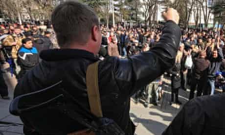 Pro-Russian activists