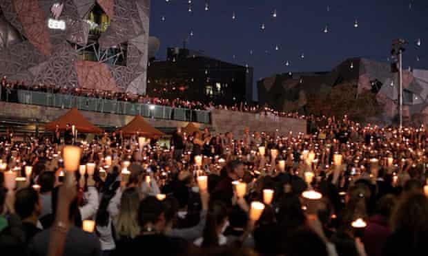 A vigil for Reza Barati in Melbourne