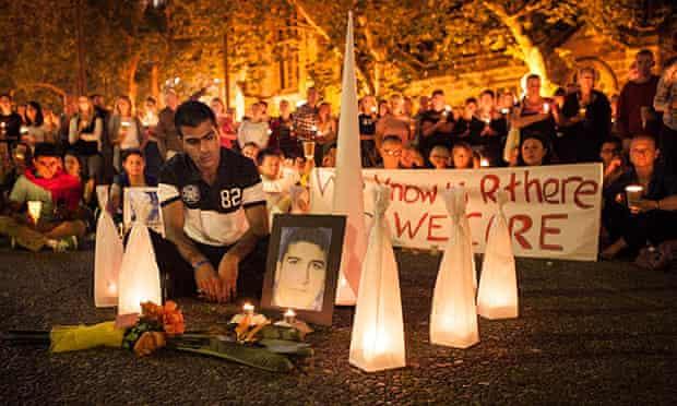 A vigil for Reza Barati