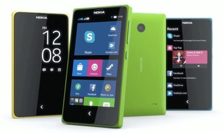 Nokia X Android smartphones
