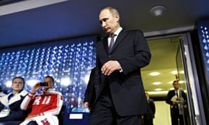 Putin attends the Winter Olympics closing ceremony