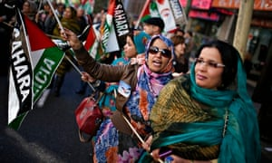 Saharawi women protest against Moroccan rule in Madrid