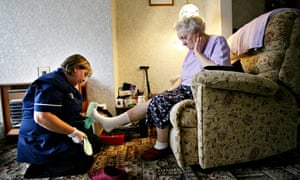 Winifred Hil and her carer Janette Riley