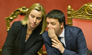 Newly appointed Italian prime minister