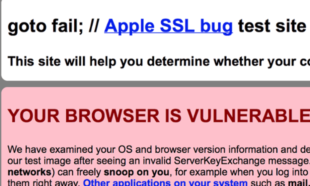 Apple SSL vulnerability