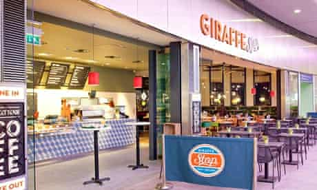 Giraffe in King's Cross … soon to be joined by a kiosk.