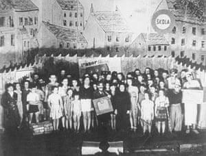 "Alice Herz-Sommer: 1944: Stephan doing the play ""Brundibár"" for a Nazi- Propagandamovie"