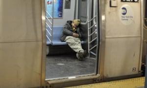 New York subway homeless