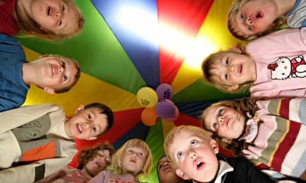 Children being astonished