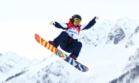 Jenny Jones snowboarding