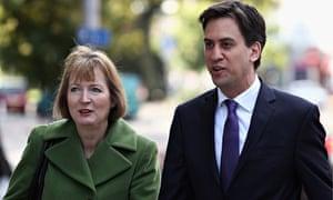 Harriet Harman and Ed Miliband