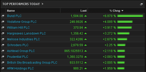 Biggest risers on the FTSE 100, February 24 2014