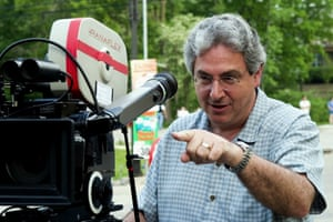 Harold Ramis directs the filming of The Ice Harvest in 2005.