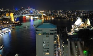 Mandatory Credit: Photo by James D. Morgan / Rex Features  Sydney's famous icons switched off tonight as the city embraced Earth Hour, an initiative designed to highlight global warming. The Opera House, Sydney Harbour Bridge and Luna Park all went dark and many lights in the Central Business District (CBD) buildings were turned off; thousands turned off their lights at home right across the city too.  Sydney's Earth Hour, Sydney, Australia - 31 Mar 2007