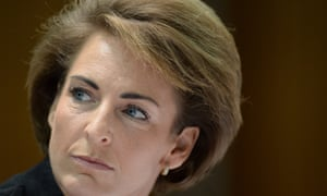 Assistant Immigration minister Michaelia Cash speaks during Senate Estimates at Parliament House in Canberra, Tuesday, Feb. 25, 2014.