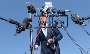 Prime Minister Tony Abbott speaks to the media after attending the launch of the beyonblue national roadshow outside Parliament House in Canberra, Tuesday, Feb. 25, 2014. (AAP Image for the Guardian/Lukas Coch) NO ARCHIVING Politics Political Politician Politicians