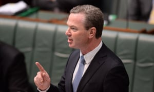 The leader of the House Christopher Pyne speaks during the Craig Thomson apology debate in the House of Representatives in Parliament House in Canberra, Tuesday, Feb. 25, 2014.