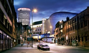 Bull Ring shopping centre in the middle of Birmingham
