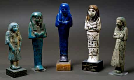Egpytian funerary figurines in the Louvre, Paris