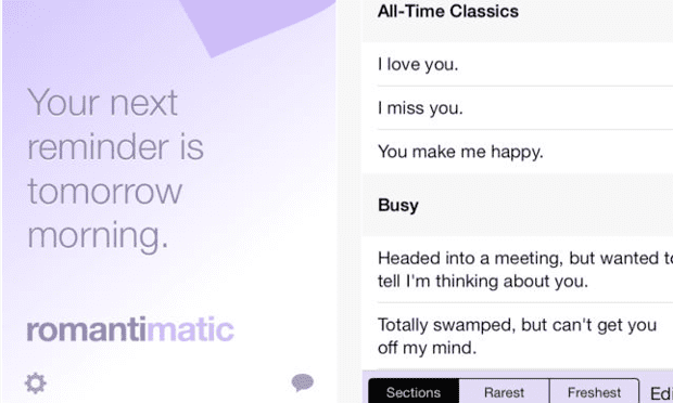Romantimatic screenshot