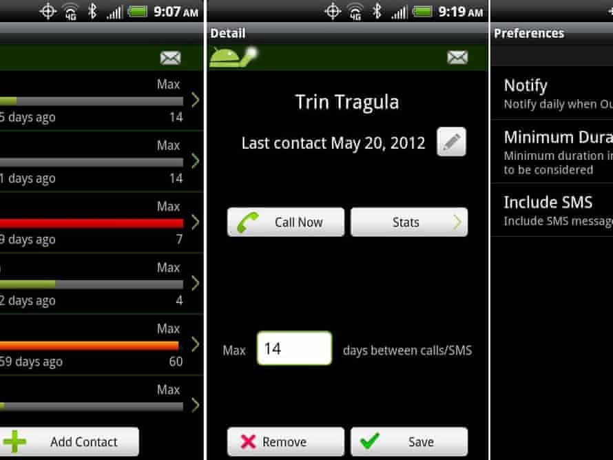 StayInTouch app screenshot