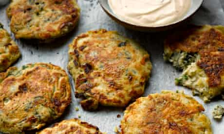 Yotam Ottolenghi's kale and cheese pikelets