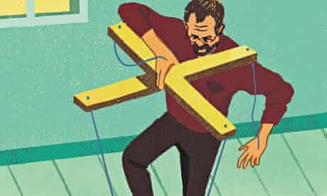 Daniel Haskett illustration for Oliver Burkeman column on self-management