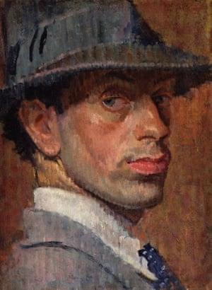 Self-portrait by Isaac Rosenberg, 1915.