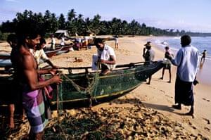 Fishermen on Tangalle beach, Sri Lanka