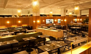 A view of Hoi Polloi's tables and chairs