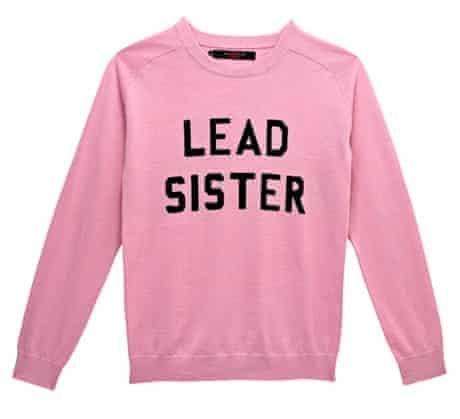 The Fashion, Editor's Picks, Jess Cartner-Morley: slogans 8 Sweatshirt, £295, by Sister by Sibling
