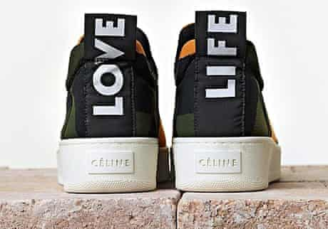 Editor's picks The Guardian's The Fashion March/April 2014  10 Trainers, from a selection, by Céline