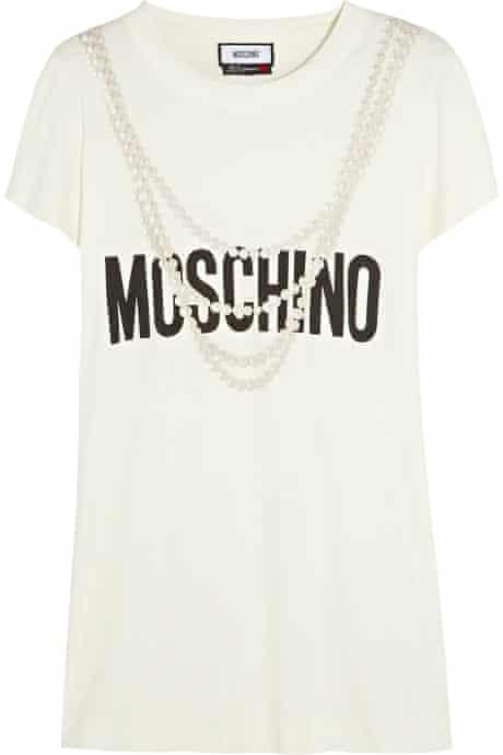 The Fashion, Editor's Picks, Jess Cartner-Morley: slogans 11 Top, £283, by Moschino (moschino.com)