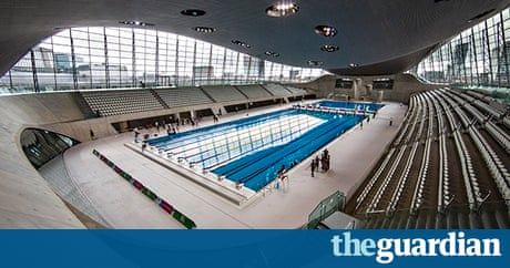 its like swimming in a spaceship aquatics centre opens to public uk news the guardian