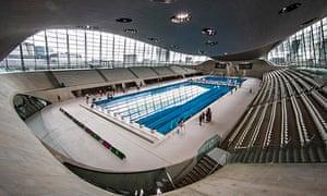 The London Aquatics Centre at the Olympic Park