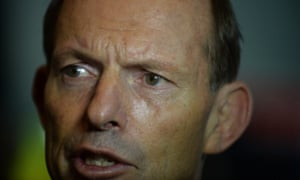 Prime Minister Tony Abbott speaks to the media after attending the launch of the Ovarian Cancer Awareness Month at Parliament House in Canberra, Wednesday, Feb. 26, 2014.