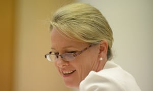 Assistant Health minister Senator Fiona Nash speaks during Senate Estimates at Parliament House in Canberra, Wednesday, Feb. 26, 2014.