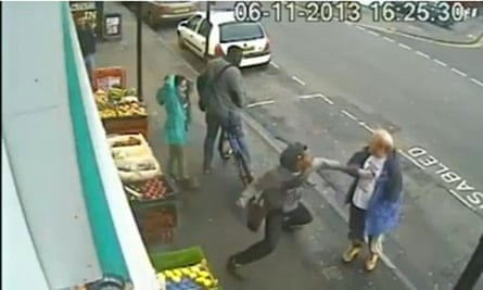 CCTV footage of attack on Andrew Young