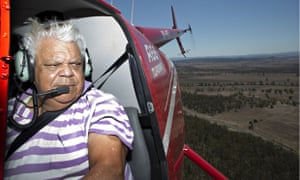 Gomeroi Elder Neville Sampson during a helicopter flight to the Leard forest near Maules Creek