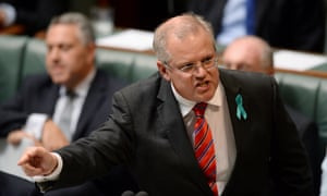 #politicslive  Immigration minister Scott Morrison speaks during question time in the House of Representatives at Parliament House in Canberra, Wednesday, Feb. 26, 2014.