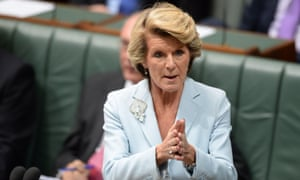 Foreign minister Julie Bishop speaks during question time in the House of Representatives at Parliament House in Canberra, Wednesday, Feb. 26, 2014.