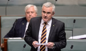 Independent MP Andrew Wilkie speaks during question time in the House of Representatives at Parliament House in Canberra, Wednesday, Feb. 26, 2014.