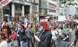 Protesters New Zealand asset sales