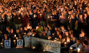 A candlelight vigil in Sydney after the death of Reza Barati in a detention centre on Manus Island