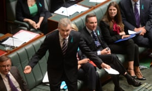 The manager of Opposition business Tony Burke during question time in the House of Representatives at Parliament House in Canberra, Wednesday, Feb. 26, 2014. (AAP Image for the Guardian/Lukas Coch) NO ARCHIVING Politics Political Politician Politicians