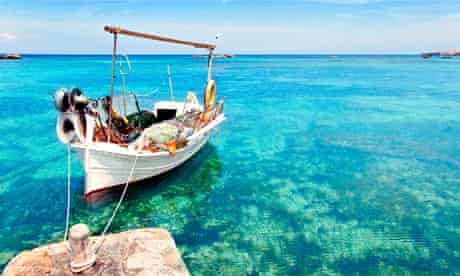 clear blue waters off Formentera