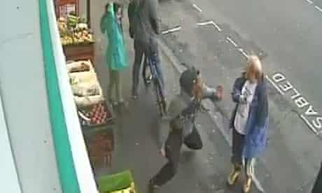 CCTV footage of the moments before Lewis Gill, 20, threw the fatal punch at Andrew Young