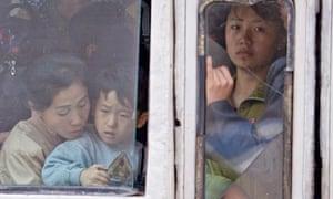 bus in Pyongyang