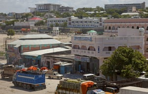 Mogadishu - Lost Moderns: View towards government quarters