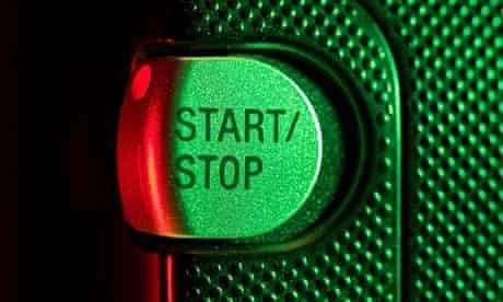 Start/Stop button closeup